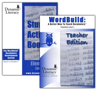 WordBuild &#174: A Better Way To Teach Vocabulary Elements 1 Combo Pack  -