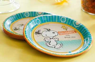 Peanuts Paper Dessert Plates, Pack of 8  -