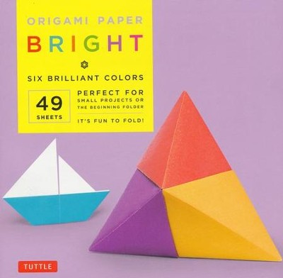 Origami Paper Bright with 8 page booklet  -