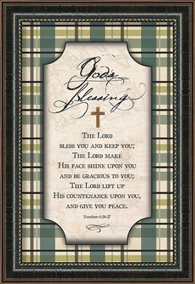 God's Blessing Framed Art  -     By: Danny Head