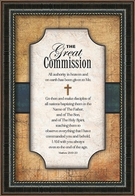The Great Commission Framed Art  -