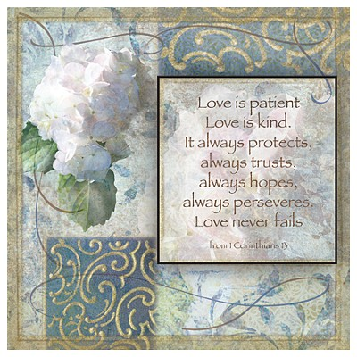 Love is Patient, Love is Kind Plaque  -