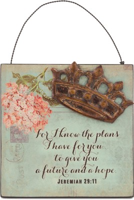For I Know the Plans, Mini Plaque  -