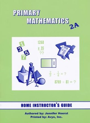 Singapore Math Primary Math Home Instructor's Guide 2A   -
