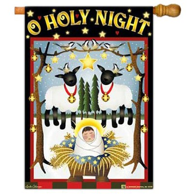 O Holy Night Large Flag   -