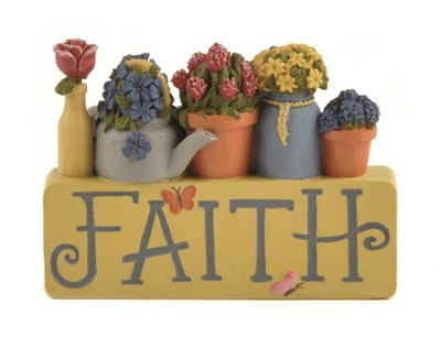 Faith Flowerpots Figurine  -