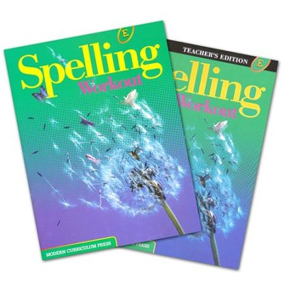 Modern Curriculum Press Spelling Workout Grade 5 Homeschool Bundle (2002 Edition)  -