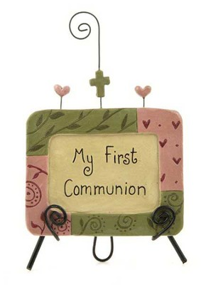 My First Communion Easel Plaque Figurine  -