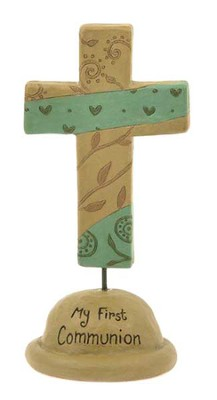 My First Communion Cross Figurine  -