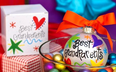 Best Grandparents Ornament to Personalize, Gift Boxed  -