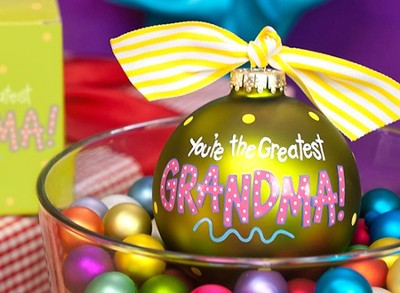 You're the Greatest Grandma, Ornament to Personalize, Gift Boxed  -