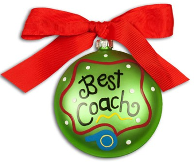 Best Coach, Ornament to Personalize, Gift Boxed  -