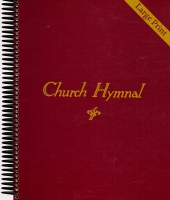 Church Hymnal Spiral Bound (Large Print)   -
