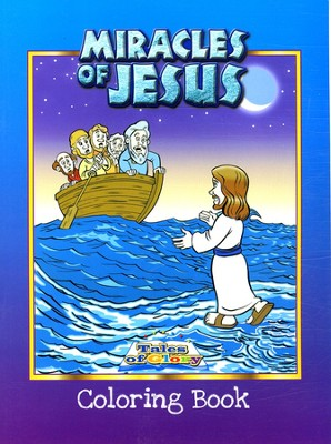 Miracles of Jesus Coloring Book   -