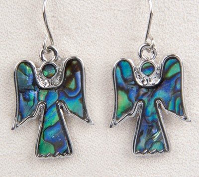 Angel Earrings, Abalone  -