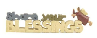 Share Your Blessings Figurine  -