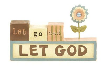 Let Go, Let God Figurine  -