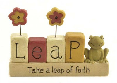 Take a Leap of Faith Figurine  -
