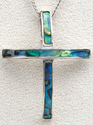 Modern Cross Necklace  -