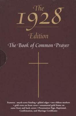 The 1928 Book of Common Prayer, Bonded Leather, Burgundy, with slipcase  -