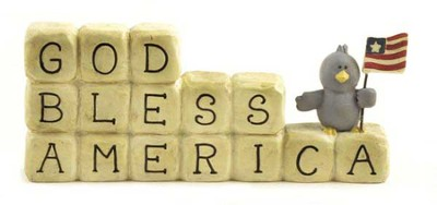 God Bless America Figurine  -