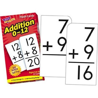 Addition 0-12 Flash Cards   -