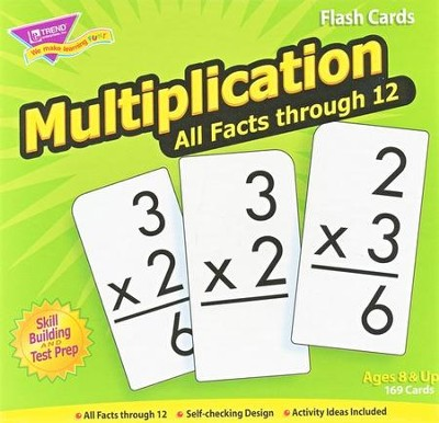 Multiplication 0-12 (all facts) Flash Cards  -