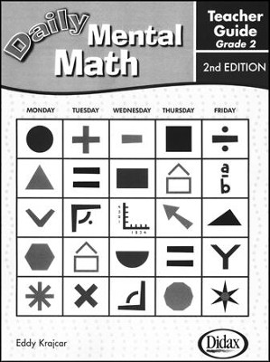Daily Mental Math Grade 2 Teacher's Guide  - Slightly Imperfect  -