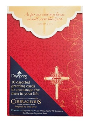 Courageous Resolution Encouragement Cards for Men, Box of 10  -