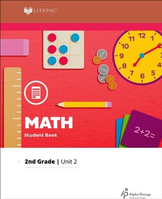 Lifepac Math Grade 2 Unit 2: Add/Sub., Even/Odd, Fractions   -
