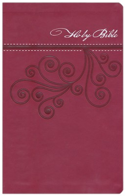 NKJV Ultraslim Bible, Imitation Leather, Cranberry   -