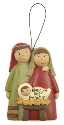 Thank You God For Jesus Ornament  -