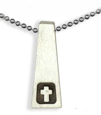 Tower with Cross Pendant, on Beaded Chain  -