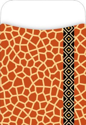 Africa - Giraffe Library Pockets  -