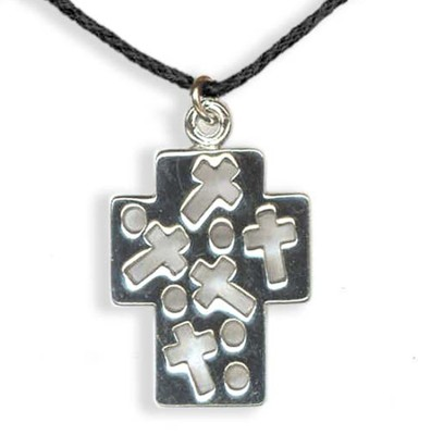Cross with Cross Cutout Pendant  -
