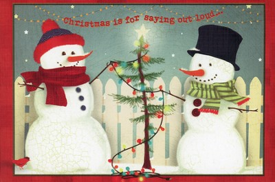 Christmas is For Saying Out Loud Cards, Box of 20  -