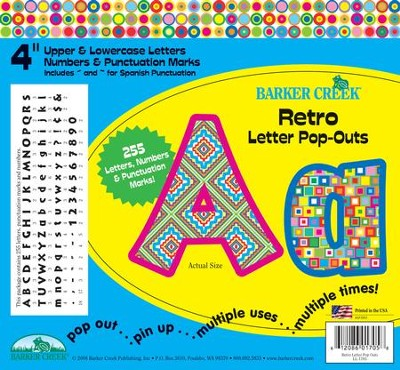 Retro Letter Pop-Outs  -