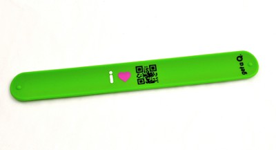 QR Slap Wristband, Jesus, Green  -