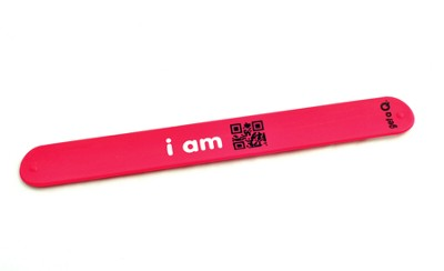 QR Slap Wristband, Blessed, Red  -