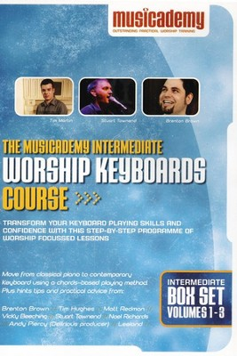 The Musicademy Intermediate Worship Keyboard Course Box Set (Volumes 1-3)  -