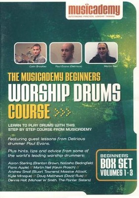 The Musicademy Beginners Worship Drums Course Box Set (Volumes 1-3)  -