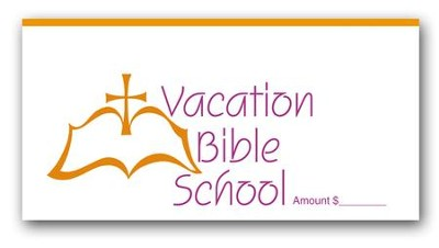 Dollar / Check Size VBS Offering Envelopes (100)  -