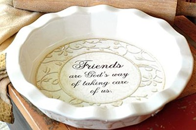 Friends--Stoneware Pie Plate   -