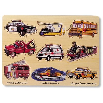 Transportation Peg Puzzle   -     By: Melissa & Doug
