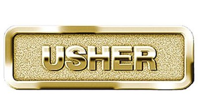 Usher Badge, Brass   -