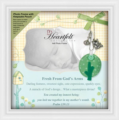 Baby Keepsake Photo Frame, Psalm 139:13  -