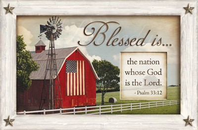 Blessed is the Nation Whose God is the Lord, Framed Print  -