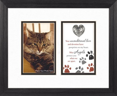 Guardian Angel Protect Cat, Framed Print  -