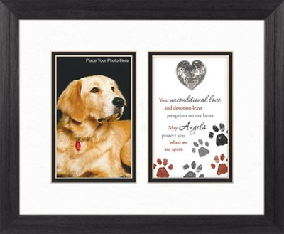 Guardian Angel Protect Dog, Framed Print  -