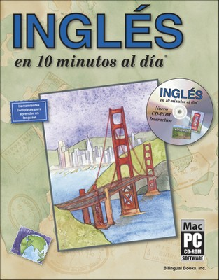 Inglés en 10 Minutos al Día con CD-ROM  (English in 10 Minutes a Day with CD-ROM)  -     By: Kristine K. Kershul